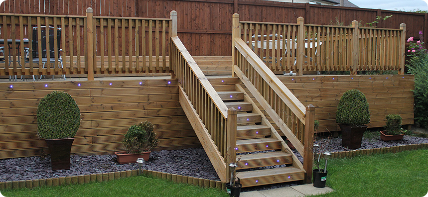 Willow landscapes garden sheffield portfolio for Garden decking images uk